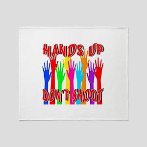 Hands Up Don't Shoot Throw Blanket