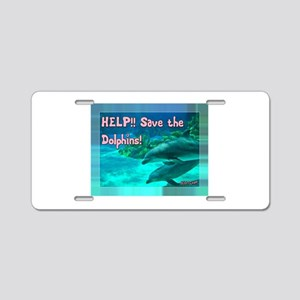 Save the Dolphins! Aluminum License Plate