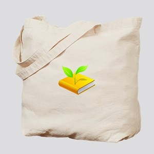 School Book Plant Leaf Tote Bag