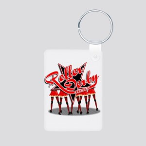 Roller Derby Academy Aluminum Photo Keychain