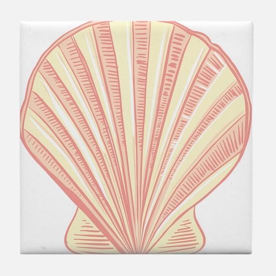 Pink Seashell Tile Coaster