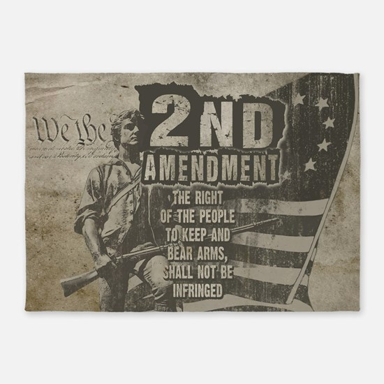 2nd Amendment 5'x7'Area Rug