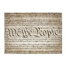 We The People w/ Constitution 5'x7'Area Rug
