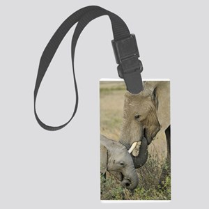 Momma and Baby Elephant Luggage Tag
