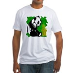 Panda Mommy & Baby Fitted T-Shirt