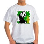 Panda Mommy & Baby Ash Grey T-Shirt