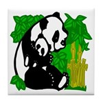 Mommy & Baby Panda Tile Coaster