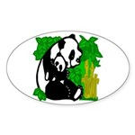 Mommy & Baby Panda Oval Sticker