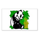 Mommy & Baby Panda Sticker (Rect.)