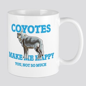 Coyotes Make Me Happy Mugs