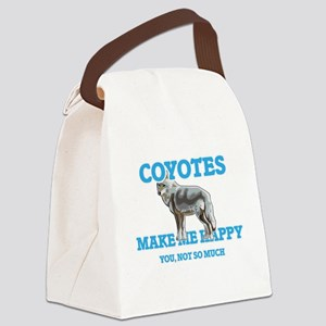 Coyotes Make Me Happy Canvas Lunch Bag