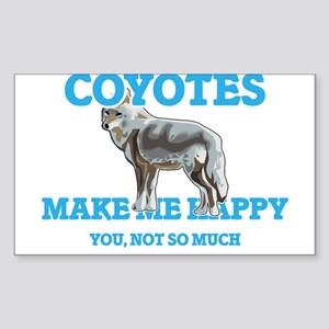 Coyotes Make Me Happy Sticker