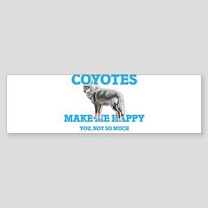 Coyotes Make Me Happy Bumper Sticker