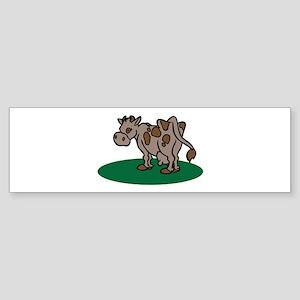 Brown Cow Bumper Sticker