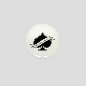 Spade & Neutered (black) Mini Button
