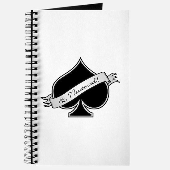 Spade & Neutered (black) Journal