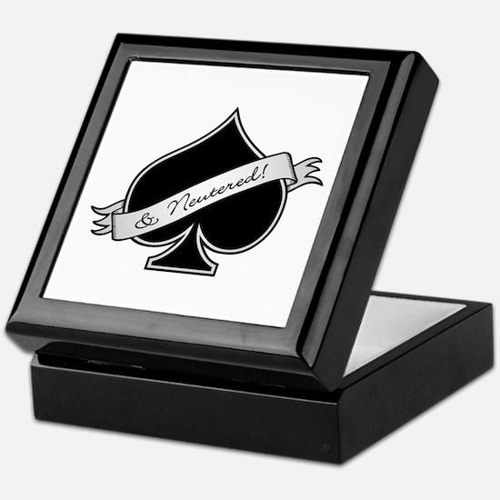 Spade & Neutered (black) Keepsake Box