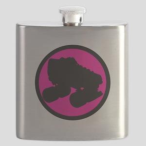 Pink Circle Skate Flask