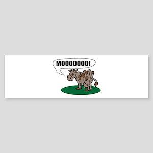 Moooo! Bumper Sticker