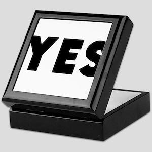 Yes Keepsake Box