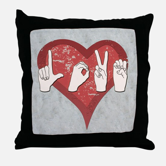 Unique Asl Throw Pillow