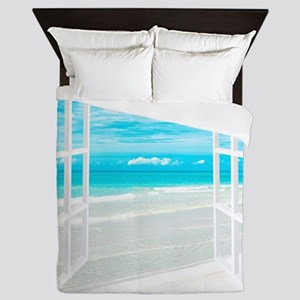 Oceanfront View Queen Duvet