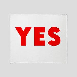 Yes Throw Blanket