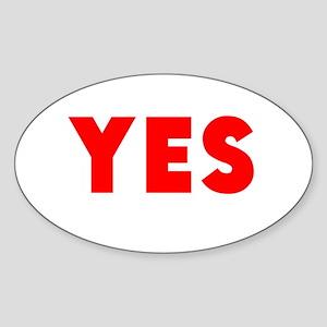 Yes Sticker
