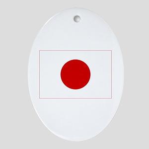japan flag Oval Ornament