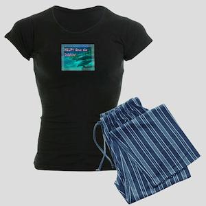 Save The Dolphins! Women's Dark Pajamas