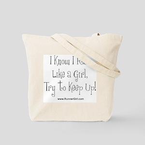 """RunnerGirl's """"Run Like a Girl"""" Tote Bag"""