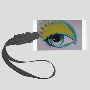 Peacock Eye Luggage Tag