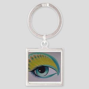 Peacock Eye Keychains