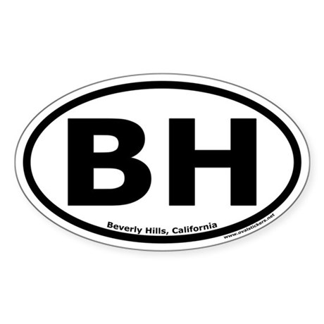 Beverly Hills, California Oval Sticker