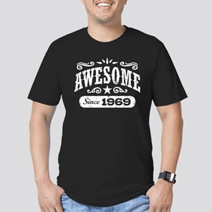 Awesome Since 1969 Men's Fitted T-Shirt (dark)