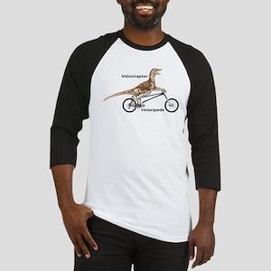 Velociraptor on Bike Baseball Jersey