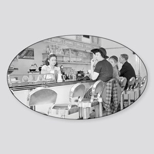 Lunch Counter, 1941 Sticker (Oval)