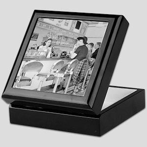 Lunch Counter, 1941 Keepsake Box