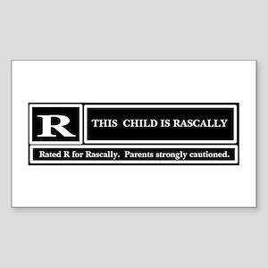 Rascal Rectangle Sticker