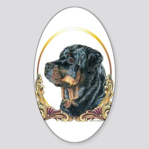 Rottweiler Christmas/Holiday Rectangle Sticker