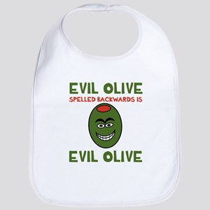 Evil Olive Palindrome Bib