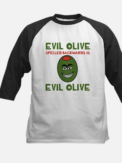 Evil Olive Palindrome Kids Baseball Jersey