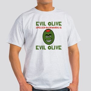 Evil Olive Palindrome Light T-Shirt