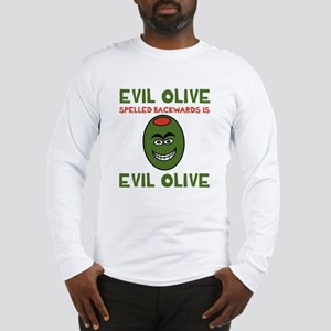 Evil Olive Palindrome Long Sleeve T-Shirt