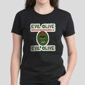 Evil Olive Palindrome Women's Dark T-Shirt
