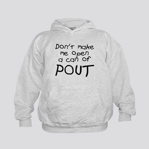 Don't make me can pout Kids Hoodie