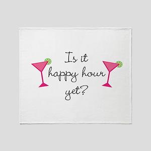 Happy Hour Yet? Throw Blanket
