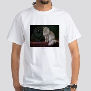 Gorgeous Black and White Persian Cats T-Shirt
