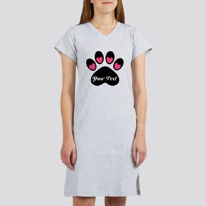 Personalizable Paw Print Women's Nightshirt
