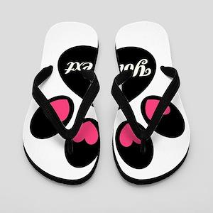Personalizable Paw Print Flip Flops